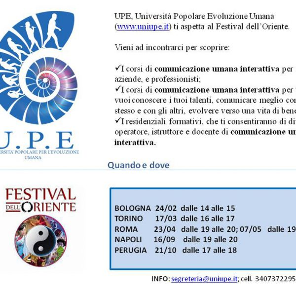 Incontriamoci a Roma al Festival dell'Oriente