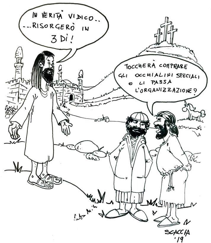 Pasqua vignetta satirica UniUPE
